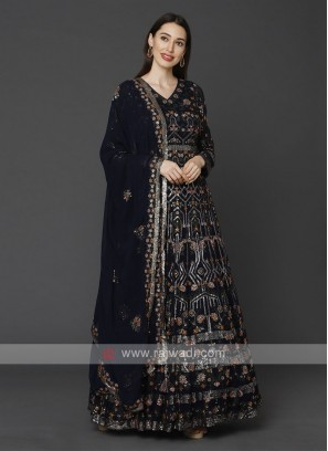 Beautiful Navy Blue Anarkali Suit