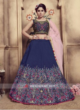 Beautiful Navy Blue Lehenga Choli