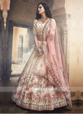 Beautiful Off White Lehenga Choli
