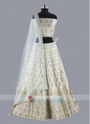 Beautiful Off White Lehenga Set