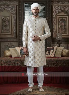 Beautiful Off White Sherwani
