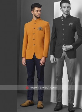 Beautiful Orange Jodhpuri Set