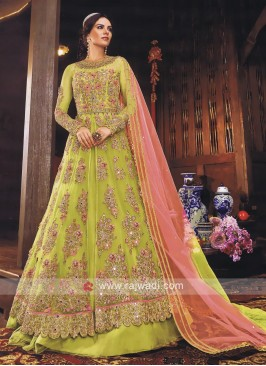 Beautiful Parrot Green Salwar Kameez