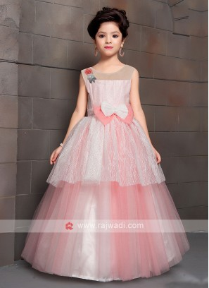 Beautiful Peach Color Gown For Girls