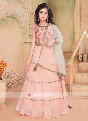 Beautiful Peach Color Lehenga Choli