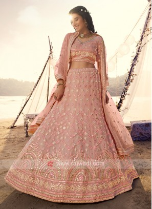Beautiful Peach Lehenga Choli