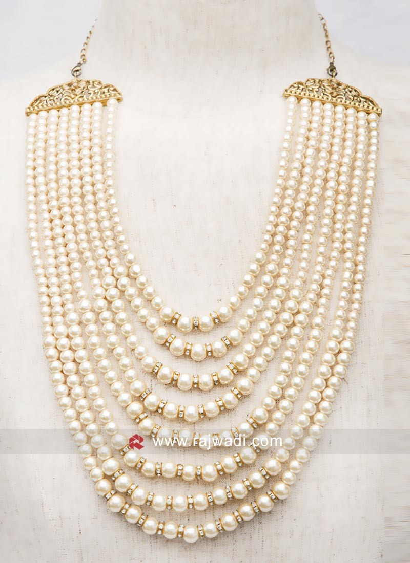 Beautiful Pearl Mala For Groom
