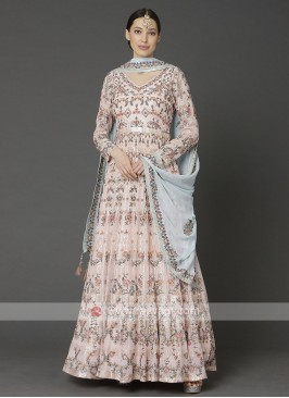 Beautiful Pink Anarkali Suit