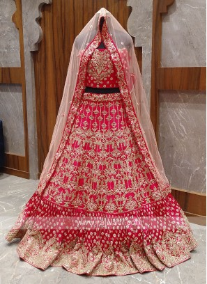 Beautiful Pink bridal lehenga choli