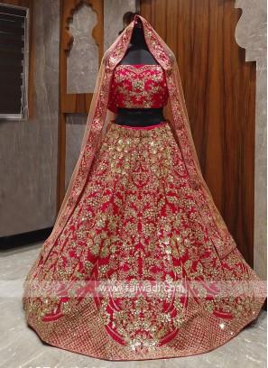beautiful pink bridal lehenga choli