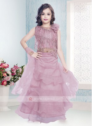 Beautiful Pink Color Choli Suit