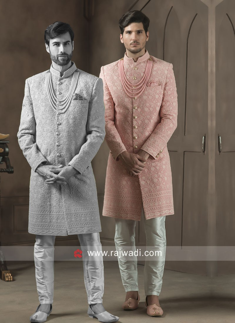 Beautiful Pink Color Sherwani