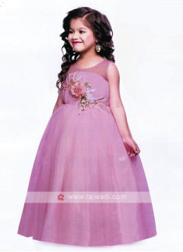 Beautiful Pink Gown For Girls