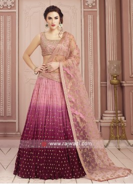 Beautiful Pink Shaded Choli Suit