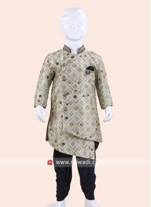Beautiful Pista Green Indo Western For Kids