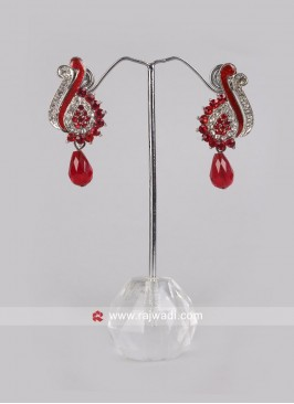 Beautiful Red Drop Earrings