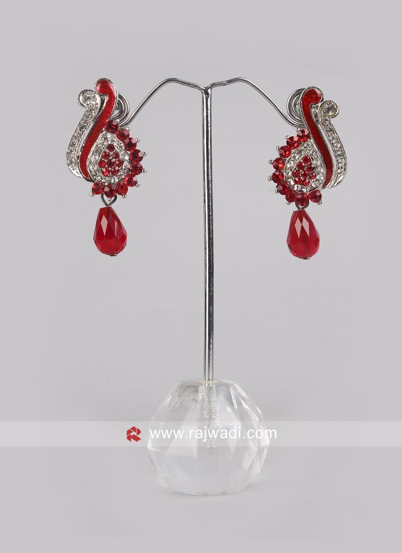 Beautiful Red Drop Earrings