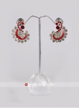 Beautiful Red Party Wear Earrings