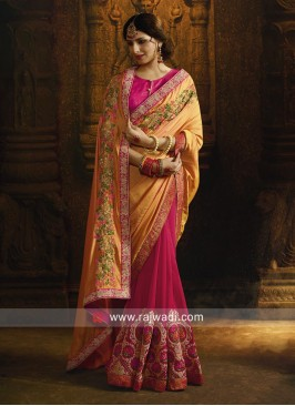 Beautiful Resham Work Saree