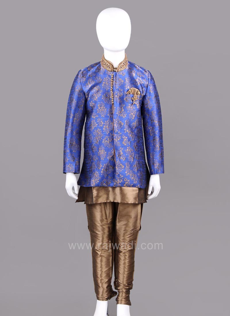 Beautiful Royal Blue Indo Western