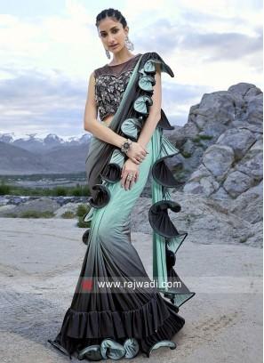Beautiful Saree in Lycra Fabric