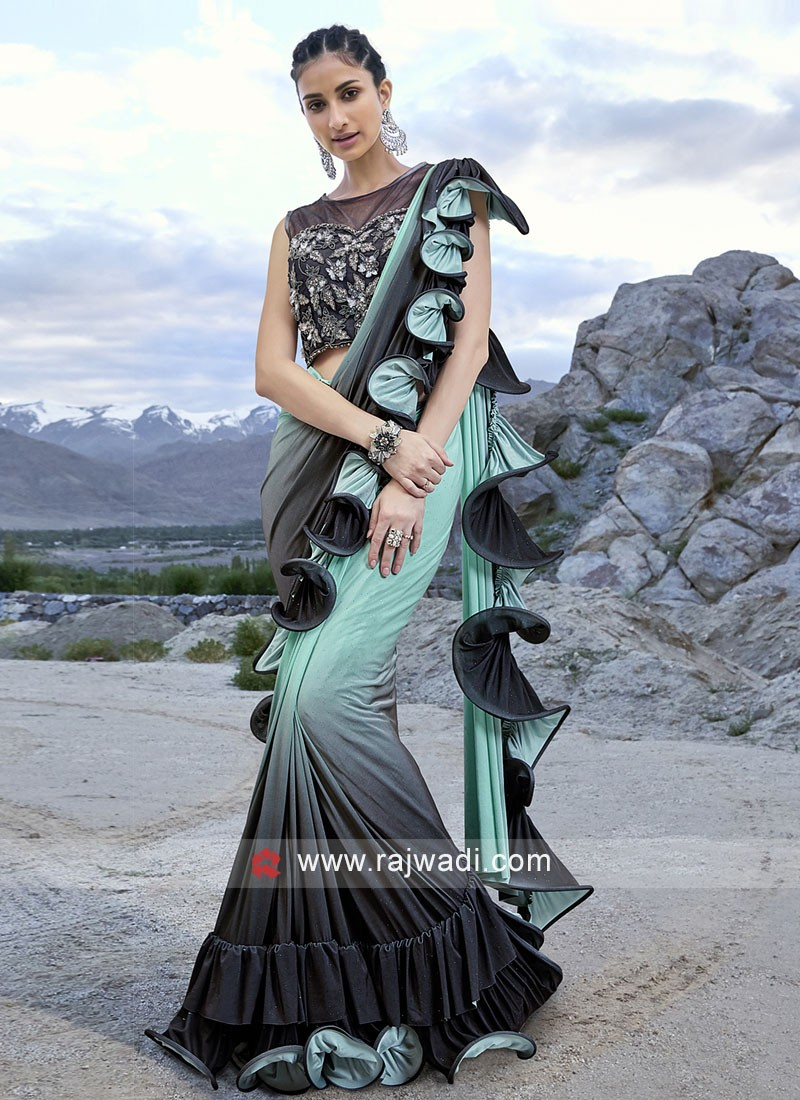 Beautiful Saree in Lycra Fabric