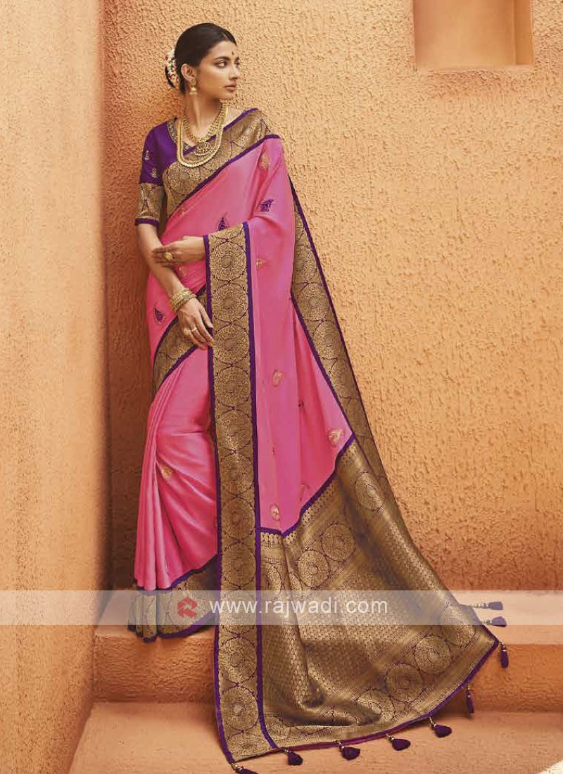 Beautiful Satin Silk Saree