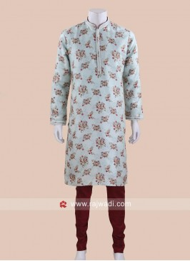Beautiful Sea Green Kurta Pajama