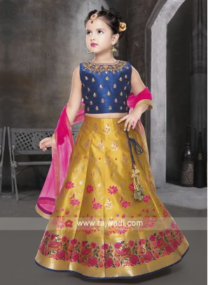 Beautiful Silk Choli Suit for Kids