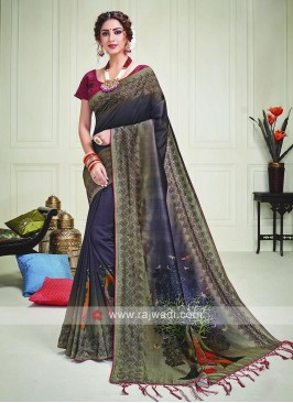 Beautiful Silk Shaded Saree