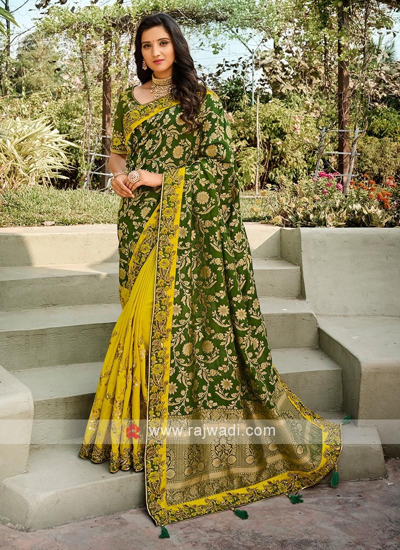 Beautiful Wedding Wear Saree