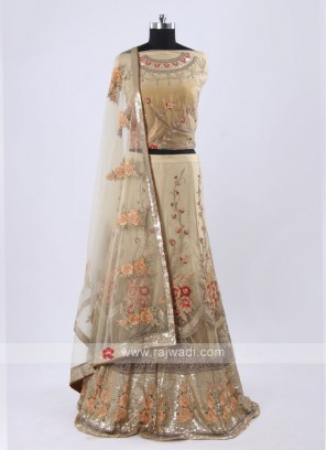 Beige and cream color  lehenga choli