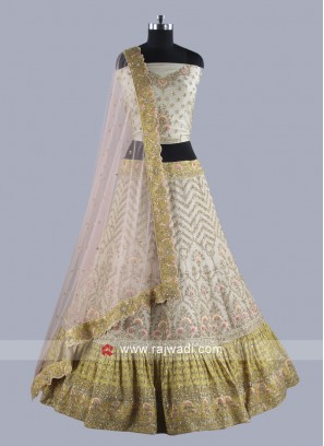 Beige Bridal Lehenga Choli