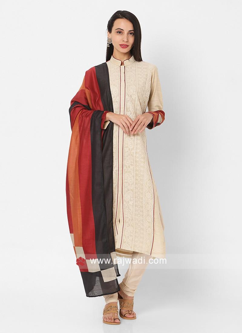 Beige Color Churidar Suit