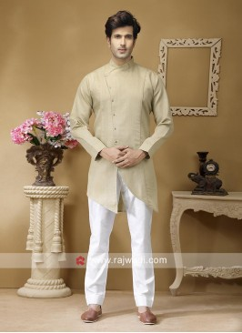 Beige Color Kurta Set