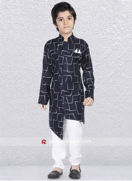 Navy Color Kurta Pajama For Wedding