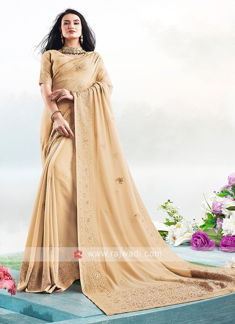 Wonderful Lucknowi Work Saree