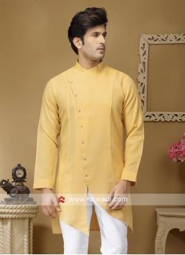 Stylish Light Yellow Color Kurta