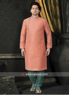 Stylish Peach Color Kurta Pajama