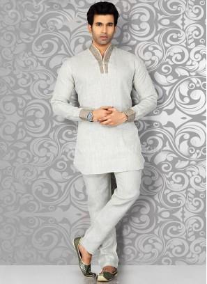 Beige Colored Kurta Pajama
