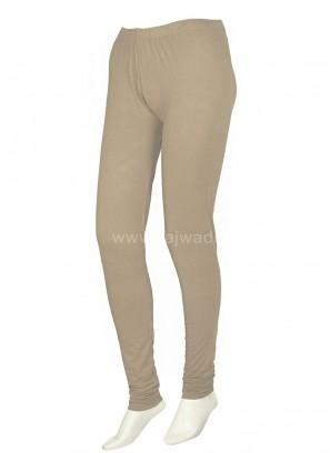 Beige Coloured Casual wear Leggings