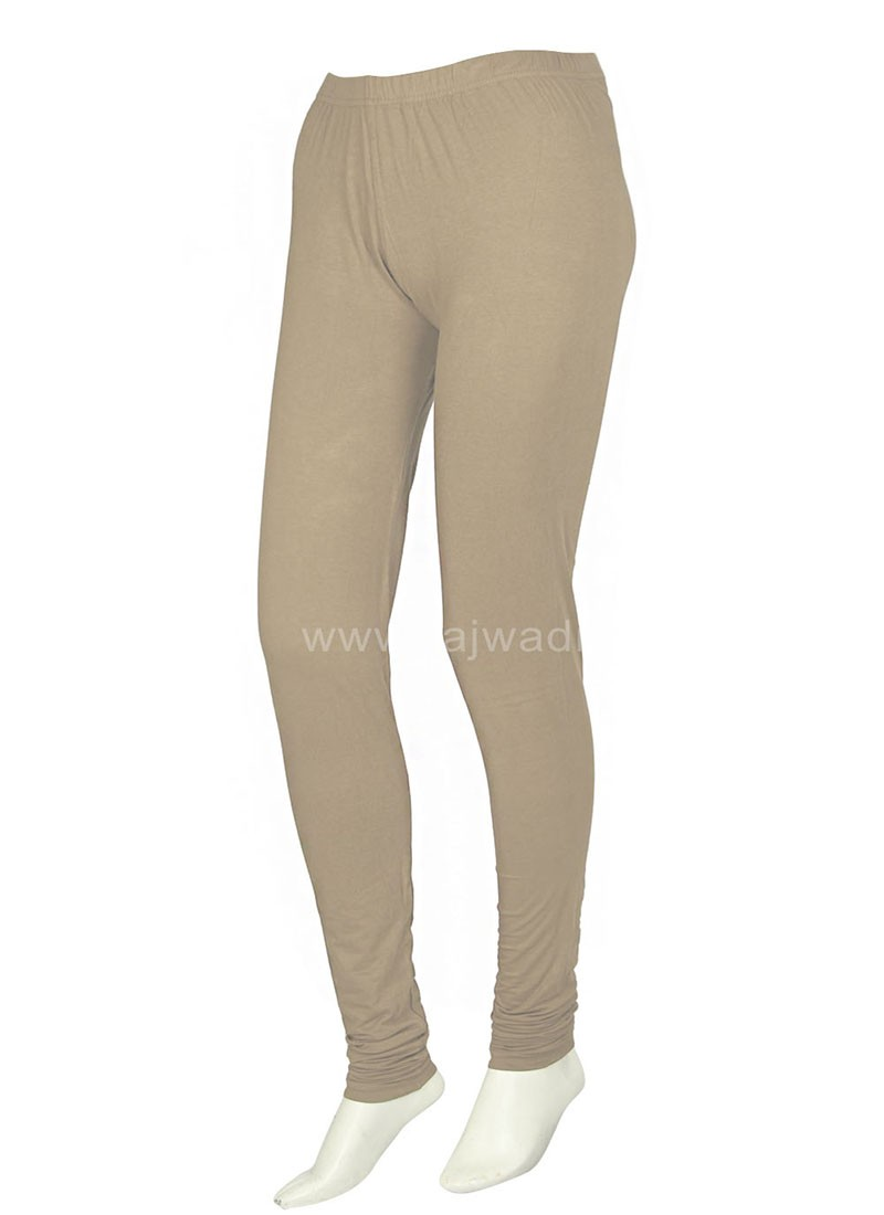 Beige Coloured Casual wear Leggings