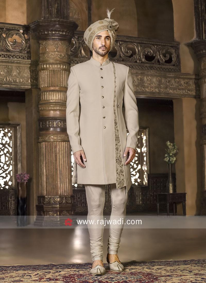 Beige Indo Western For Wedding