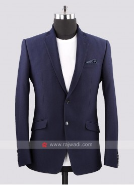 Bennevis Emboss Fabric Navy Color Blazer