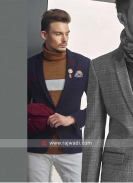 Blue Imported Fabric Blazer