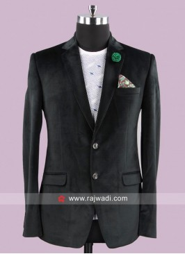 Bennevis Stylish Corduroy Fabric Blazer