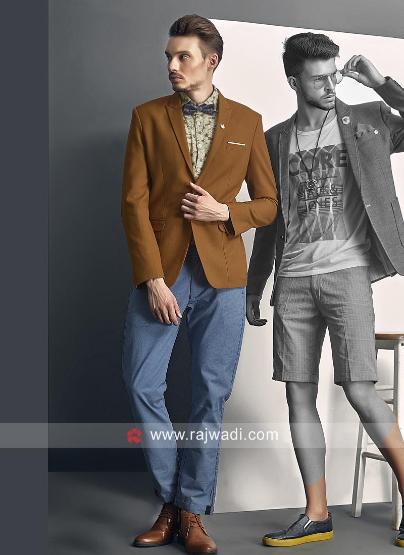 Brown Party Wear Imported Blazer