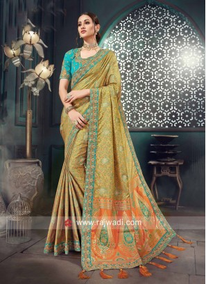 Bhagalpuri Silk Heavy Wedding Saree