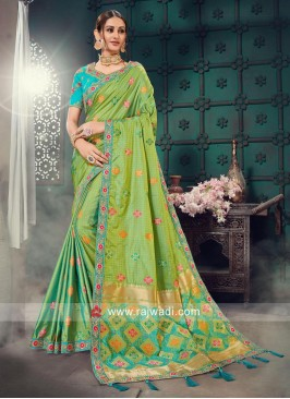 Bhagalpuri Silk Heavy Work Saree