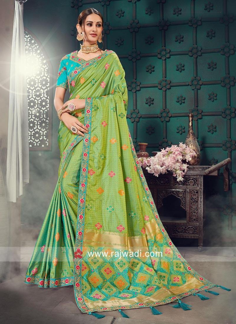 Bhagalpuri Silk Heavy Work Saree